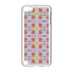 Pink Light Blue Pastel Flowers Apple Ipod Touch 5 Case (white) by Costasonlineshop