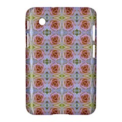 Pink Light Blue Pastel Flowers Samsung Galaxy Tab 2 (7 ) P3100 Hardshell Case  by Costasonlineshop
