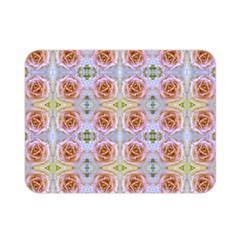 Pink Light Blue Pastel Flowers Double Sided Flano Blanket (mini)  by Costasonlineshop