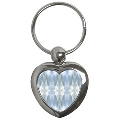 Ice Crystals Abstract Pattern Key Chains (heart)  by Costasonlineshop