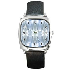 Ice Crystals Abstract Pattern Square Metal Watches by Costasonlineshop