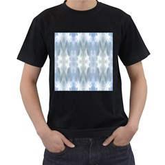 Ice Crystals Abstract Pattern Men s T-Shirt (Black) (Two Sided) by Costasonlineshop