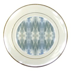 Ice Crystals Abstract Pattern Porcelain Plates by Costasonlineshop