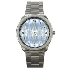 Ice Crystals Abstract Pattern Sport Metal Watches by Costasonlineshop