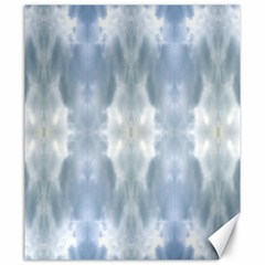 Ice Crystals Abstract Pattern Canvas 20  X 24   by Costasonlineshop