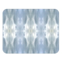 Ice Crystals Abstract Pattern Double Sided Flano Blanket (large)  by Costasonlineshop