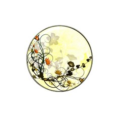 Wonderful Flowers With Leaves On Soft Background Hat Clip Ball Marker (10 Pack) by FantasyWorld7