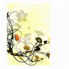 Wonderful Flowers With Leaves On Soft Background Small Garden Flag (two Sides) by FantasyWorld7