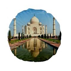 Taj Mahal Standard 15  Premium Flano Round Cushions by trendistuff