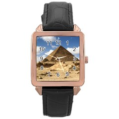 Pyramid Giza Rose Gold Watches by trendistuff