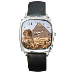 Pyramid Egypt Square Metal Watches by trendistuff