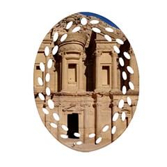 Petra Jordan Oval Filigree Ornament (2 Side)  by trendistuff