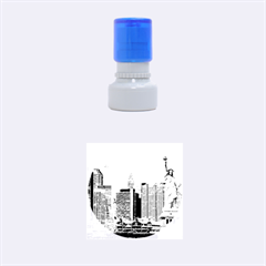 NY LIBERTY 2 Rubber Round Stamps (Small) by trendistuff