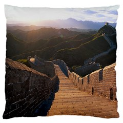 Great Wall Of China 2 Large Cushion Cases (one Side)  by trendistuff