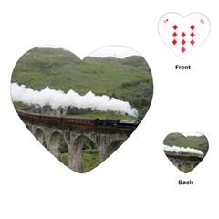 Glenfinnan Viaduct 1 Playing Cards (heart)  by trendistuff
