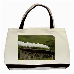 Glenfinnan Viaduct 1 Basic Tote Bag (two Sides)  by trendistuff