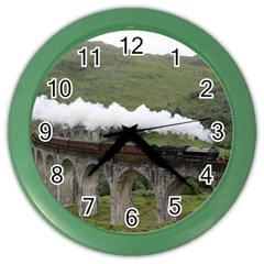 Glenfinnan Viaduct 1 Color Wall Clocks by trendistuff