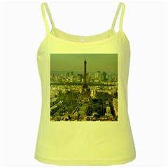 Eiffel Tower 2 Yellow Spaghetti Tanks by trendistuff