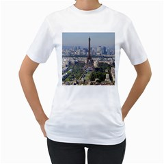 Eiffel Tower 2 Women s T Shirt (white) (two Sided) by trendistuff