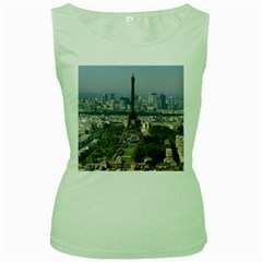 Eiffel Tower 2 Women s Green Tank Tops by trendistuff