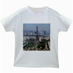 Eiffel Tower 2 Kids White T Shirts by trendistuff