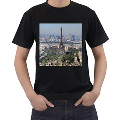 Eiffel Tower 2 Men s T Shirt (black) (two Sided) by trendistuff