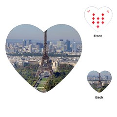 Eiffel Tower 2 Playing Cards (heart)  by trendistuff