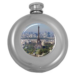 Eiffel Tower 2 Round Hip Flask (5 Oz) by trendistuff