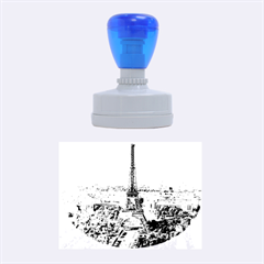 Eiffel Tower 2 Rubber Oval Stamps by trendistuff