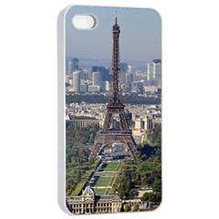Eiffel Tower 2 Apple Iphone 4/4s Seamless Case (white) by trendistuff