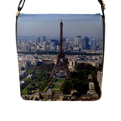 Eiffel Tower 2 Flap Messenger Bag (l)  by trendistuff