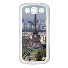 Eiffel Tower 2 Samsung Galaxy S3 Back Case (white) by trendistuff