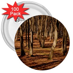 Wood Shadows 3  Buttons (100 Pack)  by trendistuff