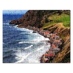 SCOTLAND CROVIE Rectangular Jigsaw Puzzl by trendistuff