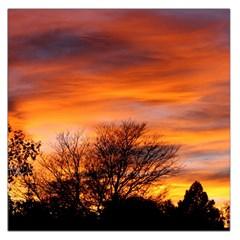 Orange Sunset Large Satin Scarf (square) by trendistuff
