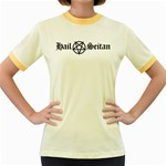 Hail Seitan Women s Fitted Ringer T-Shirts