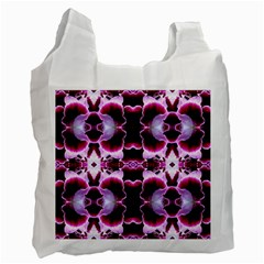 White Burgundy Flower Abstract Recycle Bag (One Side) by Costasonlineshop