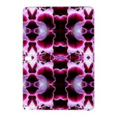 White Burgundy Flower Abstract Samsung Galaxy Tab Pro 12 2 Hardshell Case by Costasonlineshop