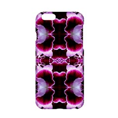 White Burgundy Flower Abstract Apple Iphone 6/6s Hardshell Case by Costasonlineshop