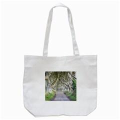 Dark Hedges, Ireland Tote Bag (white)  by trendistuff