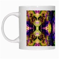Green,purple Yellow ,goa Pattern White Mugs by Costasonlineshop