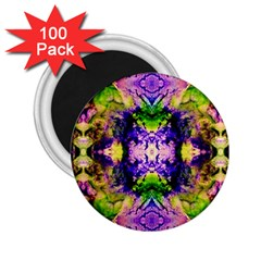 Green,purple Yellow ,goa Pattern 2 25  Magnets (100 Pack)  by Costasonlineshop