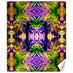 Green,purple Yellow ,goa Pattern Canvas 8  X 10  by Costasonlineshop