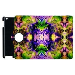 Green,purple Yellow ,goa Pattern Apple Ipad 2 Flip 360 Case by Costasonlineshop