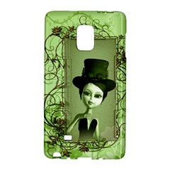 Cute Girl With Steampunk Hat And Floral Elements Galaxy Note Edge by FantasyWorld7