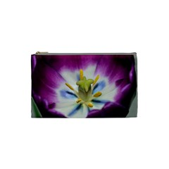 Purple Beauty Cosmetic Bag (small)  by timelessartoncanvas