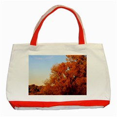 Beautiful Autumn Day Classic Tote Bag (red)  by trendistuff