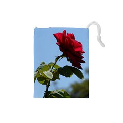 Red Rose 2 Drawstring Pouches (small)  by trendistuff