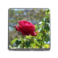 RED ROSE 1 Memory Card Reader (Square) by trendistuff