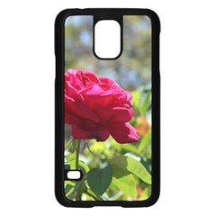 Red Rose 1 Samsung Galaxy S5 Case (black) by trendistuff
